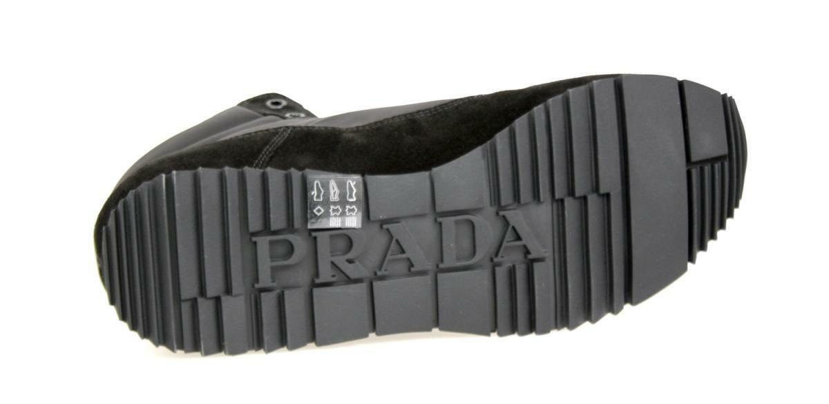 LUXE prada high top Basket  neuf chaussures 4t2782 NOIR neuf  New 8,5 42,5 43 cc96ad