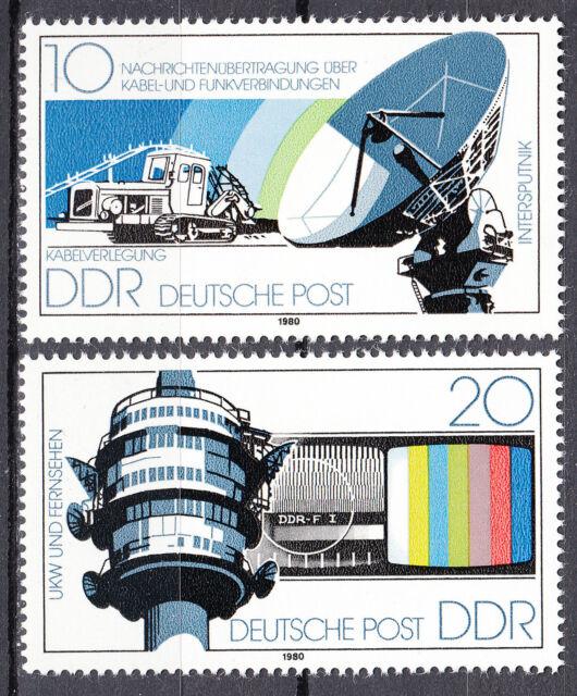 DDR 1980 Mi. Nr. 2490-2491 Postfrisch ** MNH
