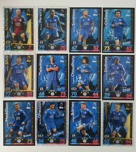 2018-19-Match-Attax-EPL-Soccer-Cards-Leicester-Team-Set-inc-5-shiny