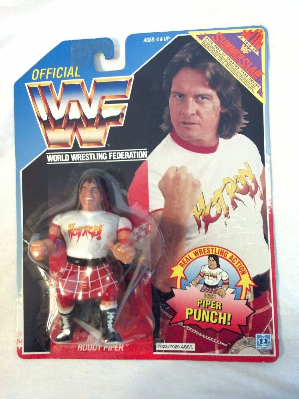 nuovo Official WWF Rowdy Roddy Piper azione cifra with  Piper Punch