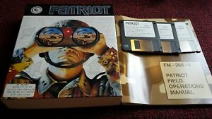 Vintage-Patriot-PC-Game-3-disks-1992-Three-Sixty-Gulf-War-Complete-Big-Box-PC