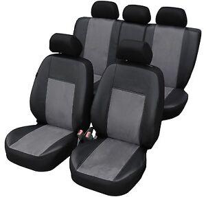 Polo 9N Maßgefertigte Kunstleder Sitzbezüge in Grau