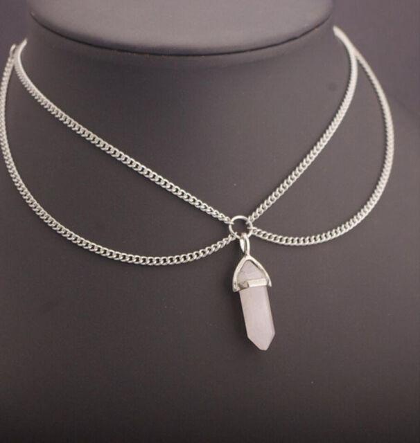 Fashion Women Crystal Chain Choker Statement Chunky Collar Pendant Necklace