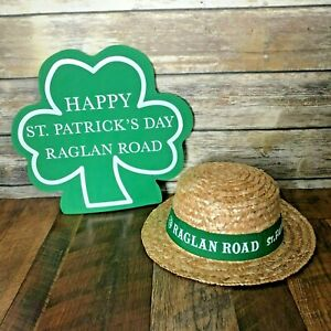 Disney-Raglan-Road-Happy-St-Patricks-Day-Straw-Hat-amp-Hand-Mitt-Shamrock-Adult