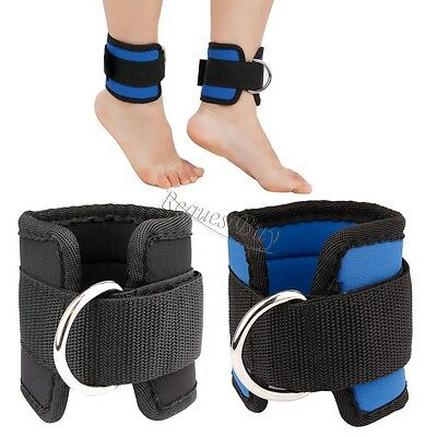 Adjustable D-ring Ankle Brace Support Strap Belt for Leg Butt Weights Exercises