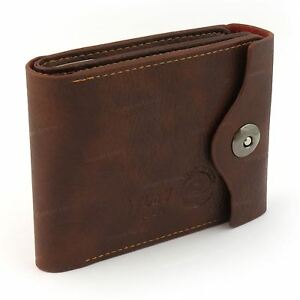Mens-Luxury-Soft-Quality-Leather-Wallet-Credit-Card-Holder-Purse-Brown-NEW-UK