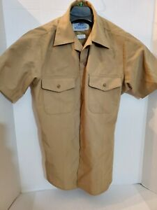 US Navy Men's Khaki Shirt Short Sleeve Uniform Service Type II Classic Fit