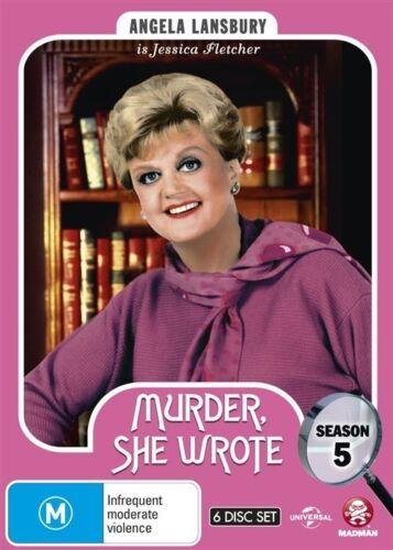 1 of 1 - Murder, She Wrote : Season 5 (DVD, 2015, 6-Disc Set) LIKE NEW REGION 4
