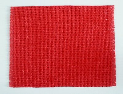 1:12 Scala Dollshouse Nuovo Velluto Pile Rosso Basketweave Tappeto Con Motivo-mostra Il Titolo Originale Servizio Durevole