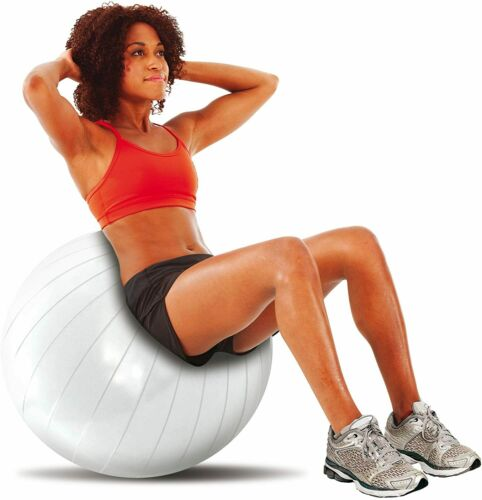 Perfect Fitness Core Exercise Ball 55cm Foot Pump Included