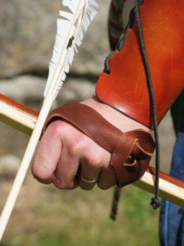 Re enactment-larp-tudor-archer longbow-cuir bow protège-main main guard