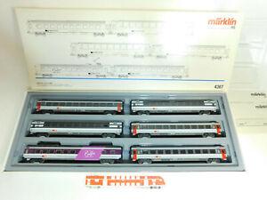 BU636-4-Maerklin-H0-AC-4367-Wagen-Set-EuroCity-SBB-CFF-FFS-NEM-KK-NEUW-OVP