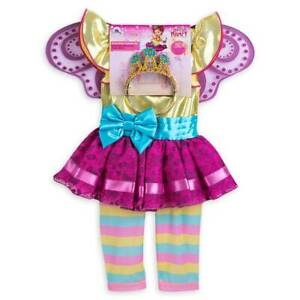 Disney Store Fancy Nancy Costume Dress Up Fairy Wings Tiara Leggings Princess Ebay