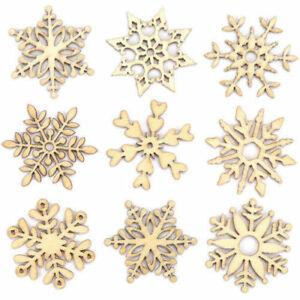 10-Assorted-Wooden-Snowflake-Laser-Cut-Christmas-Tree-Hanging-Decor-Ornament