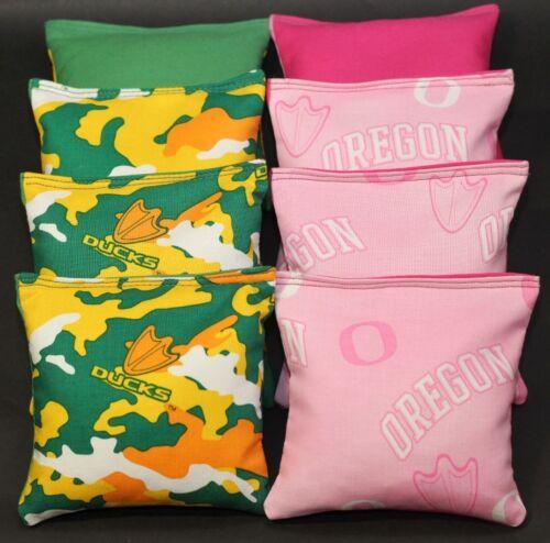 University of OREGON DUCKS CORNHOLE BEAN BAGS 8 ACA Regulation Bags Top Quality!