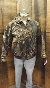 ea87557a932d9 Vtg NEW Mossy Oak Original Break-Up Camo Quilted Bomber Jacket USA ...