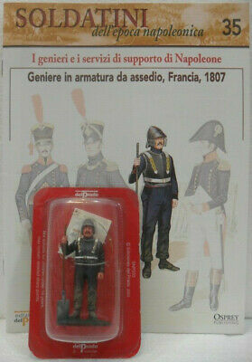 """Premuroso Soldatini Napoleonici In Piombo """"geniere In Armatura Da Assedio, Francia, 1807"""""""