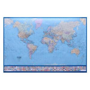 Mappa Mondo Cartina.Mappamondo Da Grattare Poster Mappa Del Mondo 75 X 50 Cm Cartina Geografica Ebay
