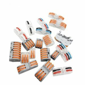 Wire Terminal Connector Universal Conductor Type 222 Compact Led Wiring Spl X 50 Ebay