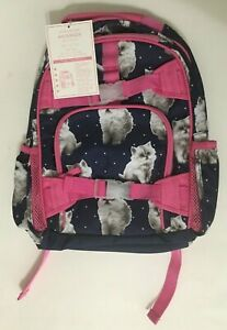 Pottery Barn Mackenzie Backpack Book Bag With Kittens Ebay