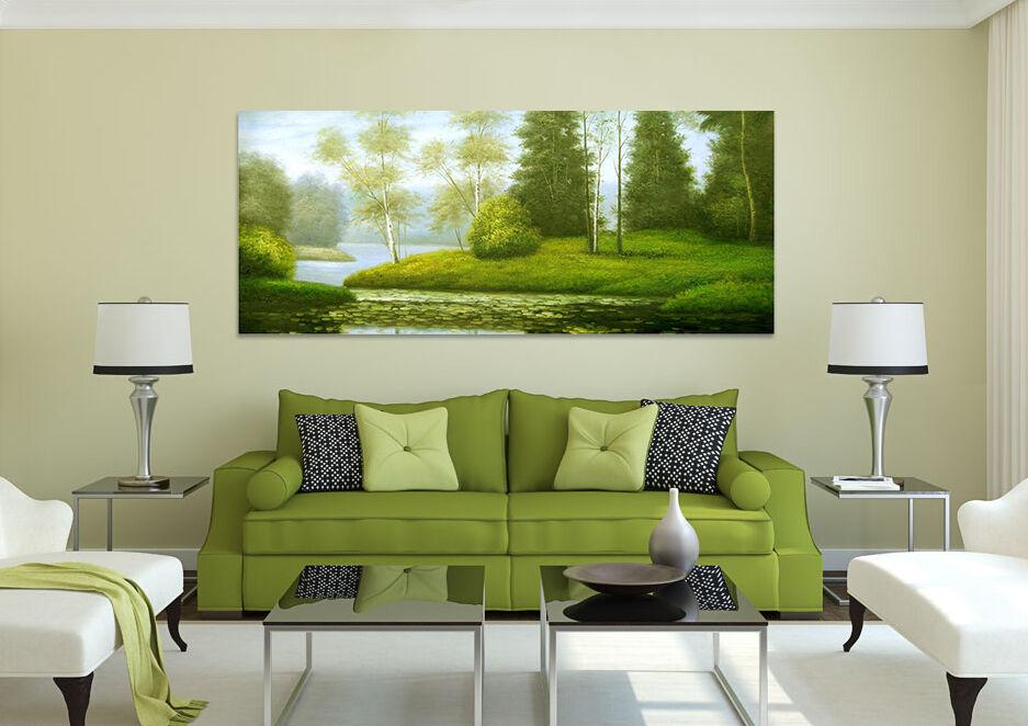 3D Grüne Wiese Kiefer Fluss 86 Fototapeten Wandbild BildTapete AJSTORE DE Lemon