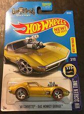 Hot Wheels CUSTOM Super 68 Corvette Gas Monkey Garage with Real Riders US Card
