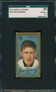 1911 T205 Red Murray Sweet Caporal SGC 55 VG-EX+ 4.5 Not PSA