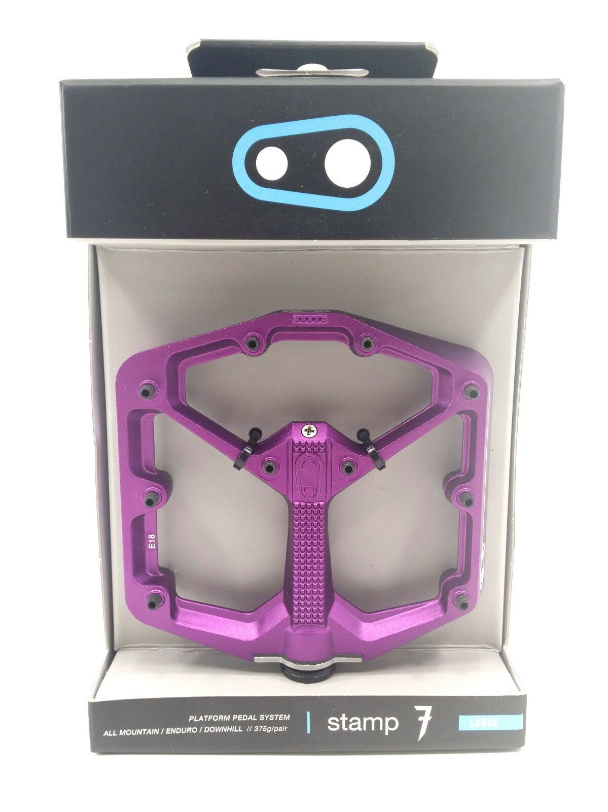 Crank Brojohers STAMP 7 Plataforma Mtb Pedales, grande, púrpura