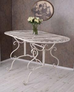 Eisentisch Garten.Details Zu Garten Tisch Shabby Chic Küchentisch Metall Eisentisch Vintage Gartentisch