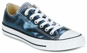 Details zu Converse Chuck Taylor All Star Blue Metallic Womens Lo Trainer