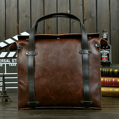 Men's Carzy Horse Leather Hand Bags Messenger Shoulder Bag Laptop Briefcase Bags