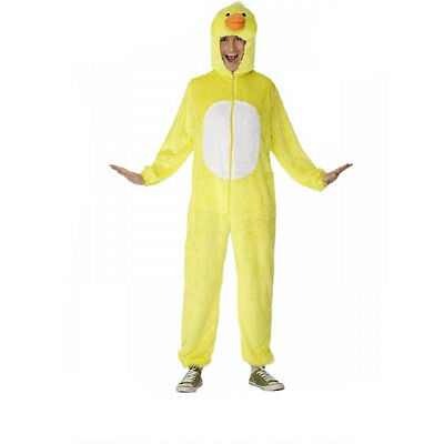 Mens Duck Costume Furry Hoodie Jumpsuit Fluffy Rubber Duckie Adult Yellow Ducky