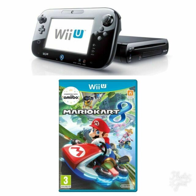 Nintendo Wii U -32 GB Noir Console + Mario Kart 8 Paquet Gratuit