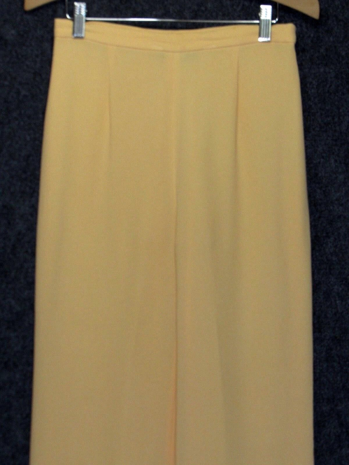 LUCA LUCA Wool Blend Yellow Classic Flared Leg Tr… - image 3