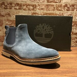 Details about NIB Timberland Men's Naples Trail Chelsea Boot Nvy Blue Graphite TB0A1ON9 Sz 12