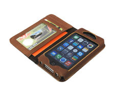 myBitti New iPhone 4 4s Genuine vintage cow Leather Flip Wallet Case Cover