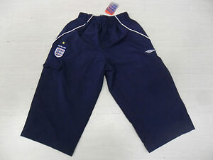 0320 Umbro S Short 3/4 Bermuda Angleterre England Long Short