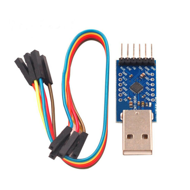 USB 2.0 to TTL UART 6PIN Module Serial Converter CP2104 STC PRGMR With Cable~~~