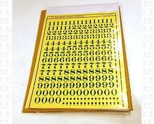 Virnex HO Decals Emerald Green 3/8 Inches Railroad Roman Number Set 3168