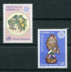 Art Plate Figurine 2 mnh stamps 1976 Monaco #1023-4 Europa