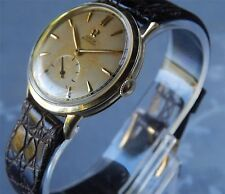 Omega Bumper Automatic Watch - 14K Solid Yellow Gold Case