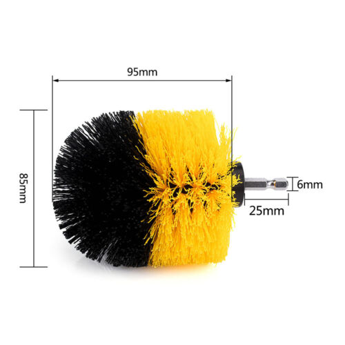 4Pcs//Set Combo Power Scrubber Cleaning Drill Brush Tile Grout Tub Cleaner Tools
