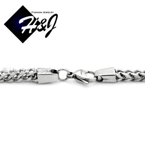 """MEN/'s Stainless Steel 4.5mm//6mm Silver Cuban Curb Box Chain Necklace*24/""""30/""""36/"""""""