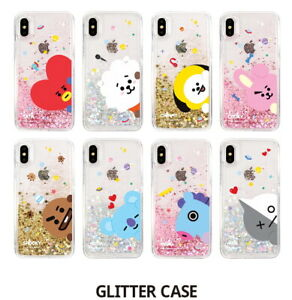 brand new c1e1b 724e1 Details about BTS BT21 GLITTER Phone Case Cover Official Authentic Goods  For Iphone Galaxy