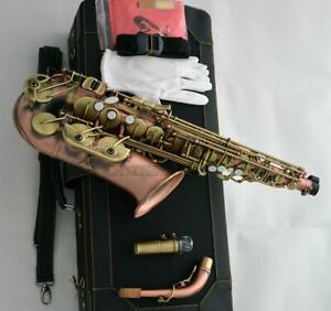 Customized Eb Alto Saxophone Red antique bronze saxofon New Case