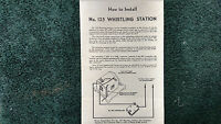 Lionel 125 Whistling Station Instructions Photocopy