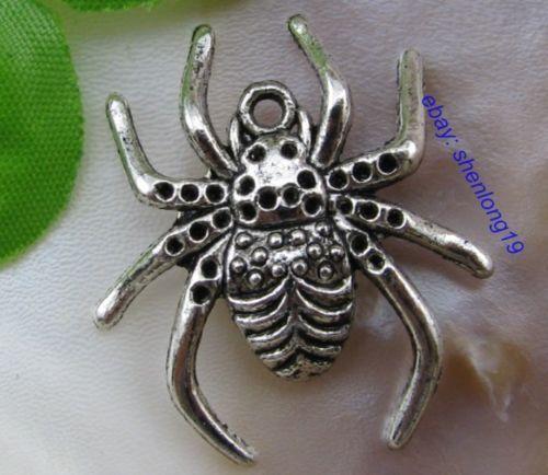 FREE SHIP 10pcs tibetan silver spider charms pendants 29X26MM E769