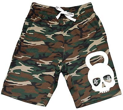 Men/'s One More Rep Fleece Camo Shorts Sweatpant Running Fitness Workout Gym V283