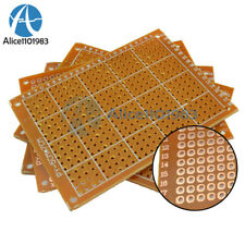 10 Pcs 5x7 Cm Copper DIY Prototype Paper PCB Fr4 Universal Board Prototyping