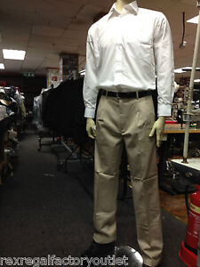 Henbury-Teflon-Coated-Pleat-Front-Chino-Trouser-Stone-H600-FORMAL-WORK-CASUAL